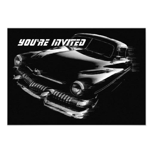 Black Flash Car Birthday V2 Personalized Announcement