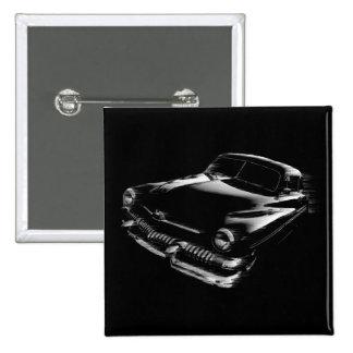 Black Flash Car Pinback Buttons