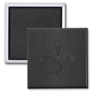 Black Fleur de Lis Magnets