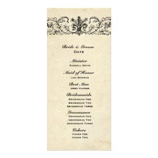 Black Fleur Wedding Program