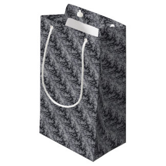 Black Floral Fine Lace Gift Wrapping Supply Small Gift Bag