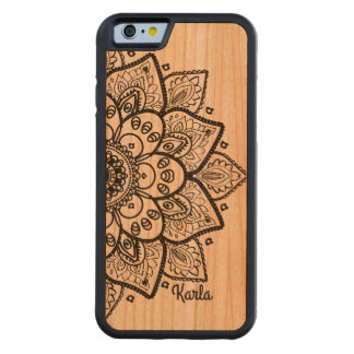 Black Floral Lace Mandala Cherry iPhone 6 Bumper