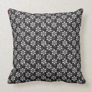 black floral pillow pattern