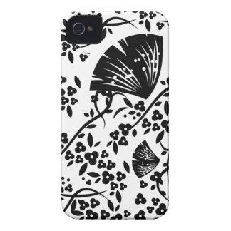 Black floral swirls awesome blackberry bold case