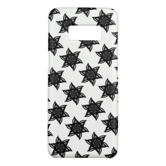 Black Floral Tile Phone Case