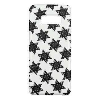 Black Floral Tile Phone Case