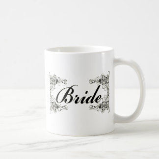 Black Floral Wedding Invitation Set Classic White Coffee Mug