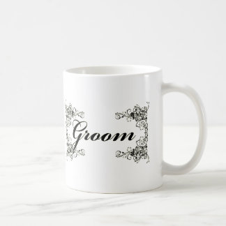 Black Floral Wedding Invitation Set Coffee Mugs