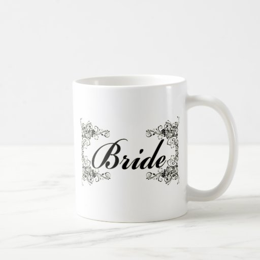 Black Floral Wedding Invitation Set Coffee Mug