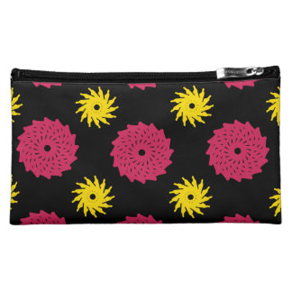 Black Florals Makeup Bag