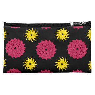Black Florals Makeup Bags