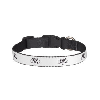 Black Flourished Pet Collar