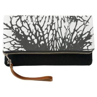 Black Flower Clutch Bag