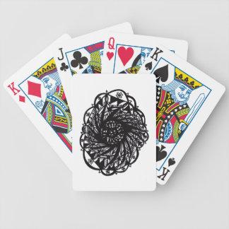 Black Flower Mandala Bicycle Playing Cards