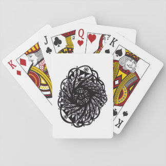 Black Flower Mandala Playing Cards