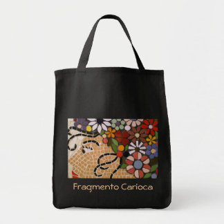 Black flower Medusa Tote Bag