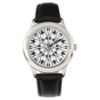 Black flower watch