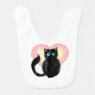 Black Fluffy Kitten Bibs
