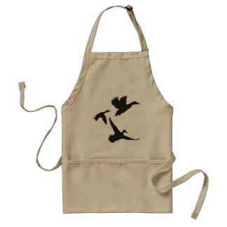 Black Flying Duck Silhouettes Standard Apron