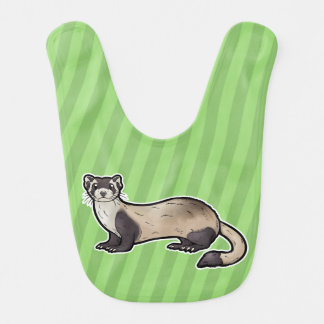 Black Footed Ferret Baby Bib