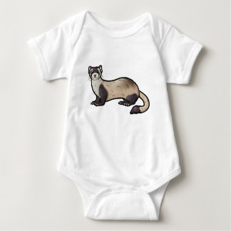 Black Footed Ferret Baby Bodysuit