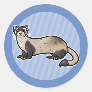Black Footed Ferret Classic Round Sticker