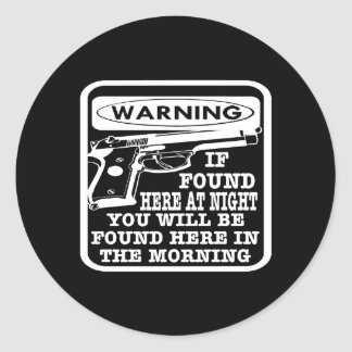 Black Found Night Found Morning Classic Round Sticker
