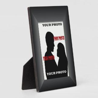 Black Frame Your Photo Photo Square Plaque