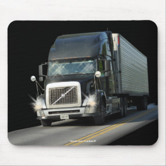 BLACK FREIGHT TRUCK LORRY DRIVERS Mousepad