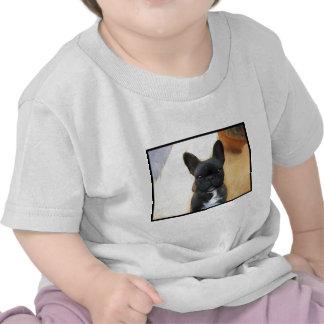 Black French Bulldog art toddler shirt
