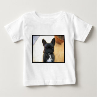 Black French Bulldog art toddler shirt