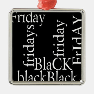 Black Friday gifts Silver-Colored Square Ornament