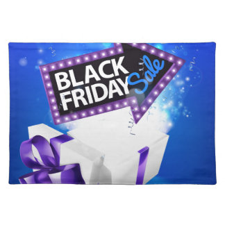 Black Friday Sale Gift Bow Design Placemat