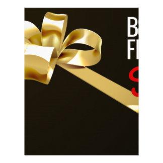 Black Friday Sale Gold Ribbon Gift Bow Design Letterhead