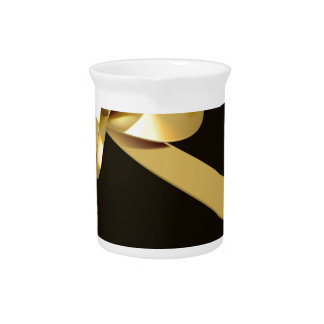Black Friday Sale Gold Ribbon Gift Bow Design Pitcher