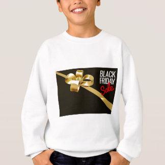 Black Friday Sale Gold Ribbon Gift Bow Design Sweatshirt