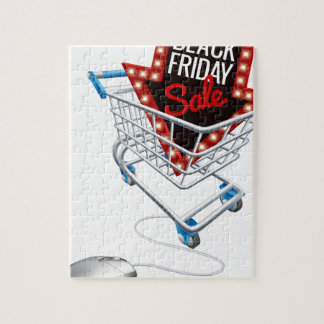 Black Friday Sale Online Trolley Computer Mouse Jigsaw Puzzle
