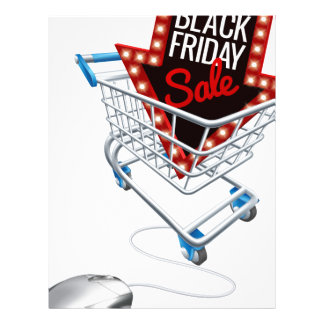 Black Friday Sale Online Trolley Computer Mouse Letterhead