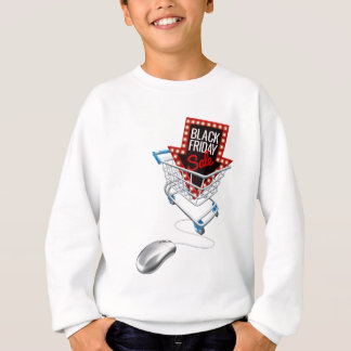 Black Friday Sale Online Trolley Computer Mouse Sweatshirt