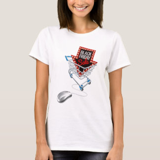 Black Friday Sale Online Trolley Computer Mouse T-Shirt