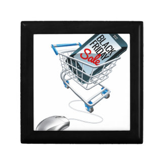 Black Friday Sale Phone Trolley Mouse Sign Gift Box