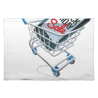 Black Friday Sale Phone Trolley Mouse Sign Placemat