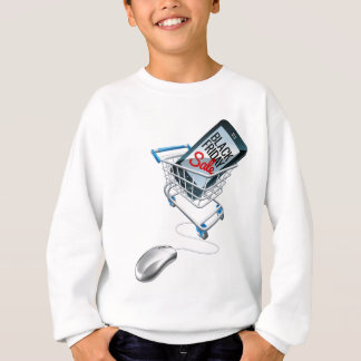 Black Friday Sale Phone Trolley Mouse Sign Sweatshirt