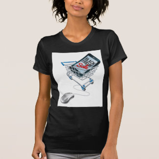 Black Friday Sale Phone Trolley Mouse Sign T-Shirt
