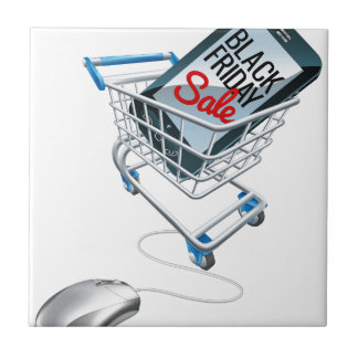 Black Friday Sale Phone Trolley Mouse Sign Tile