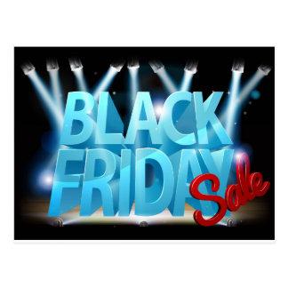 Black Friday Sale Stage Sign Postcard