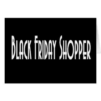 BLACK FRIDAY SHOPPER Invitation Card