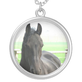 Black Friesian Horse Necklace