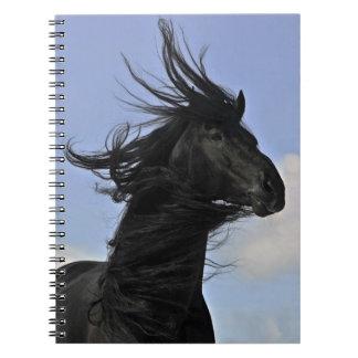 Black Friesian Horse Notebook