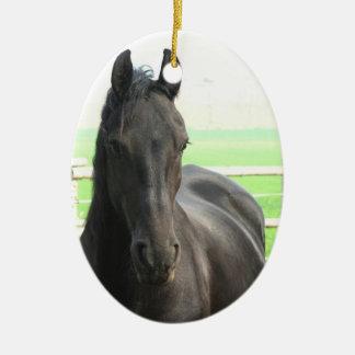 Black Friesian Horse Ornament